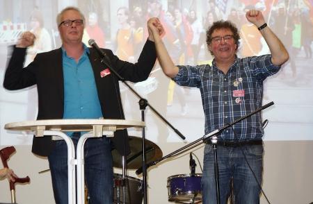 Peter Mertens und Patrik Köbele